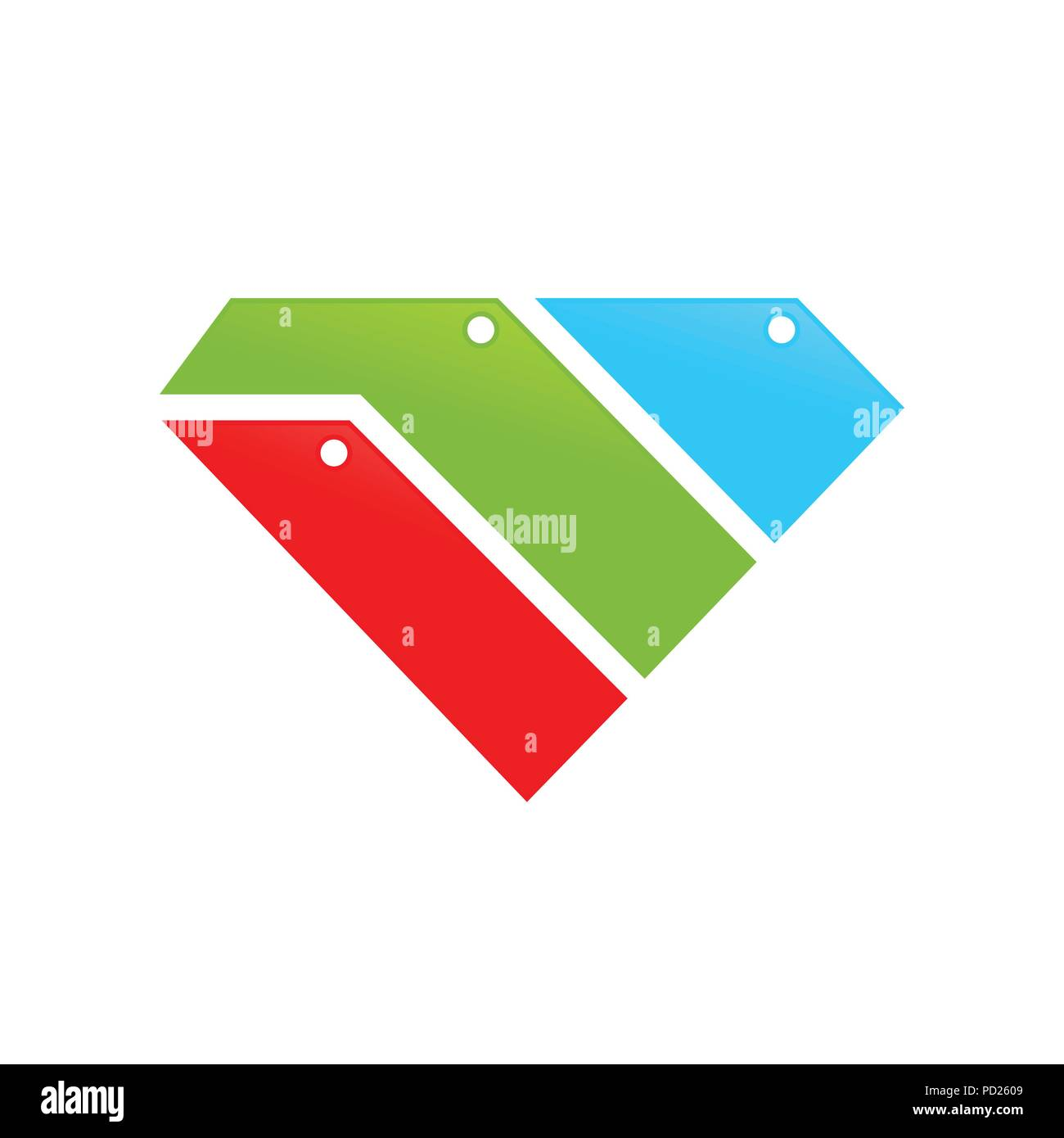 diamond shape file and folder stack vector symbol graphic logo