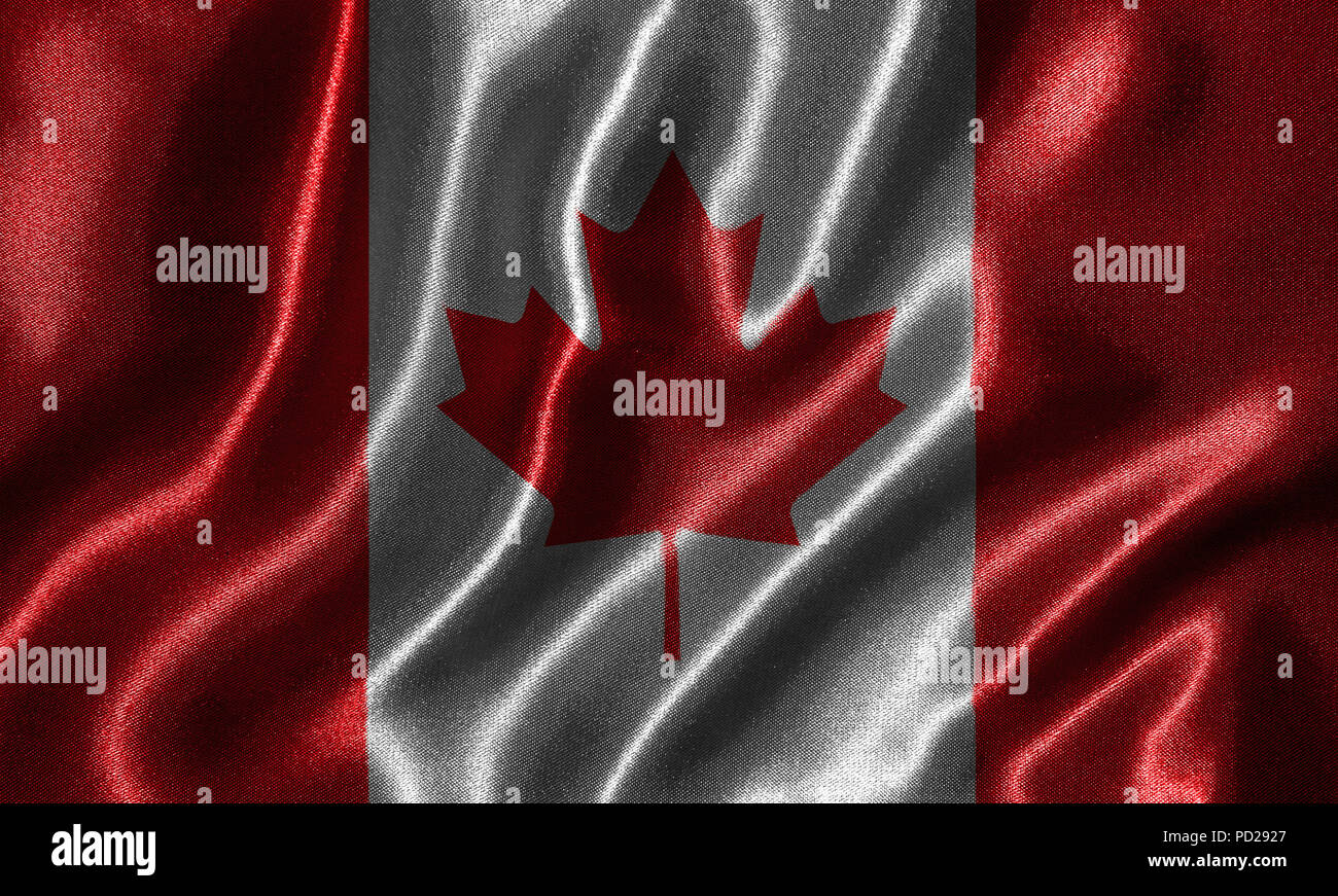 Canada Flag Fabric Flag Of Canada Country Background And