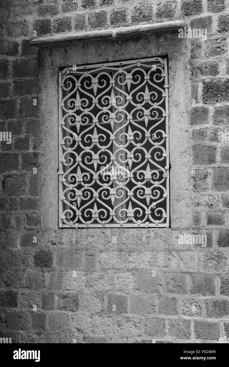 A Window Of A Stone House Stock Photo