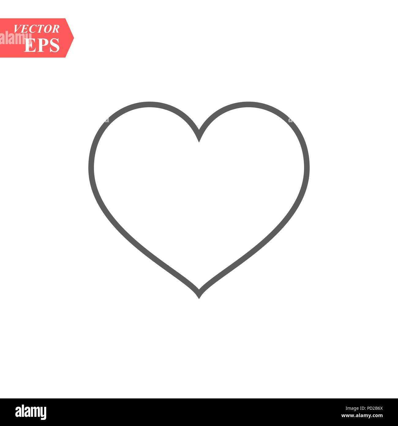 Modern heart line icon  Premium pictogram isolated on a