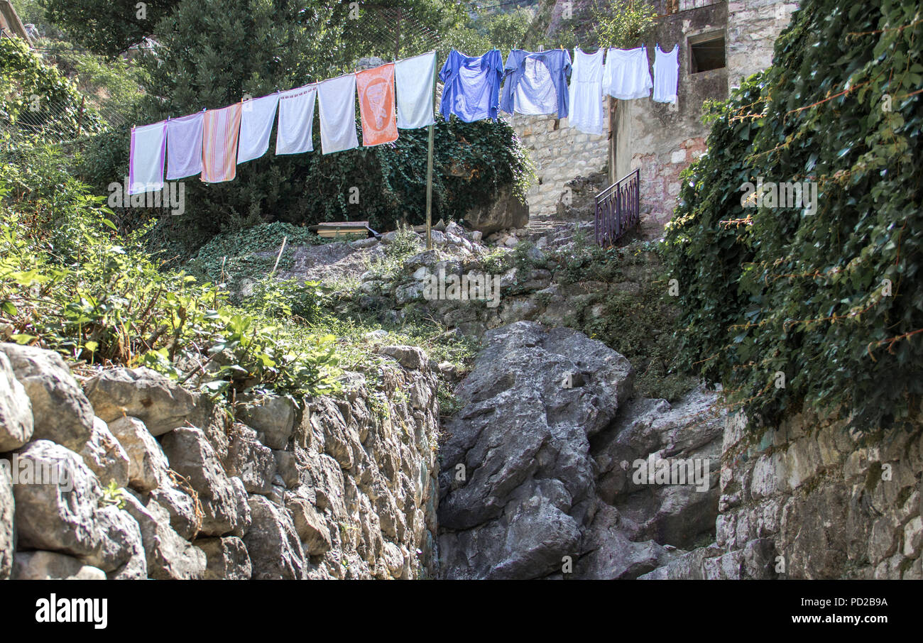 Drying Laundry Stock Photo