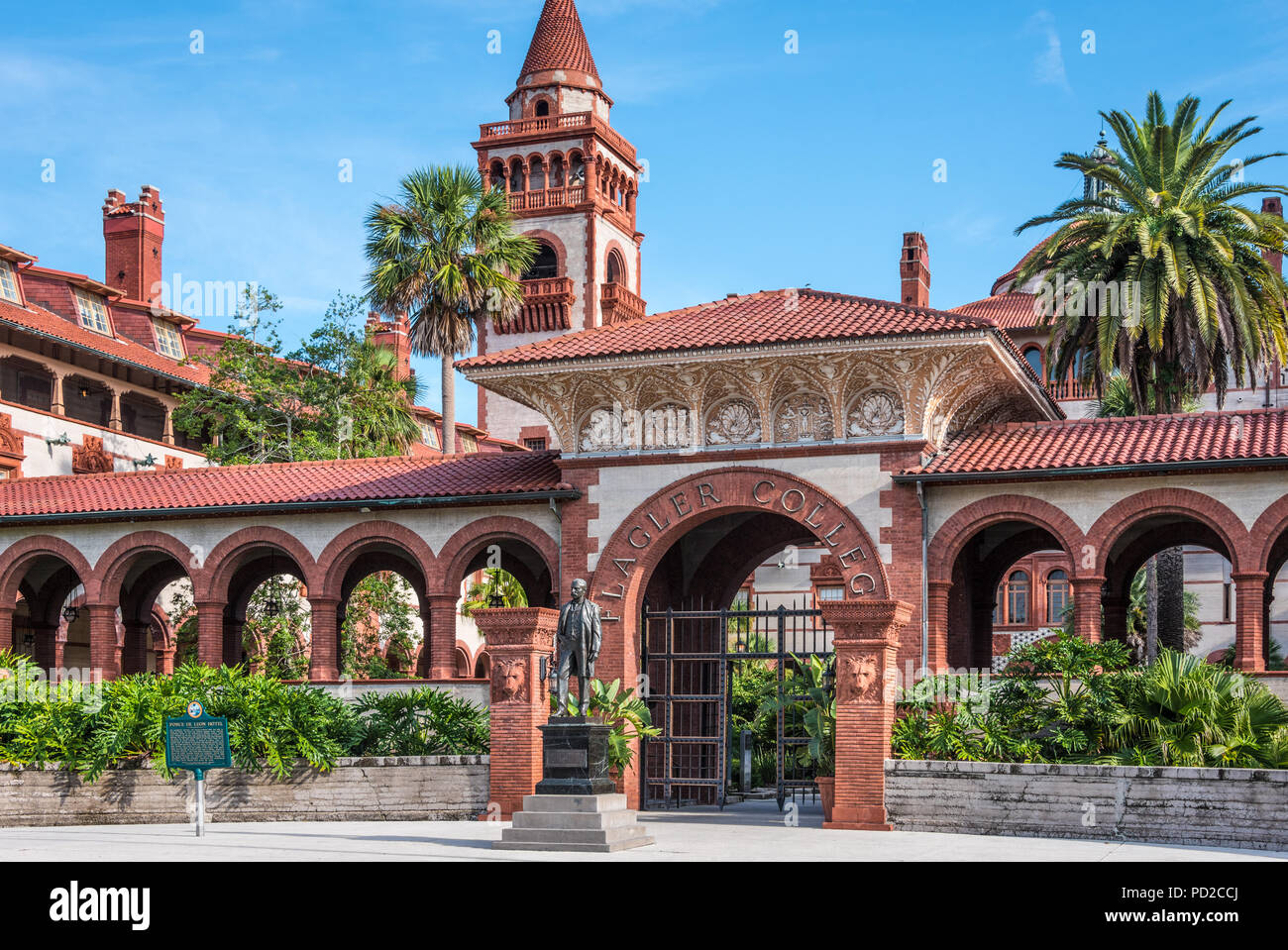 Flagler College in historic downtown St. Augustine, Florida. (USA) - Stock Image