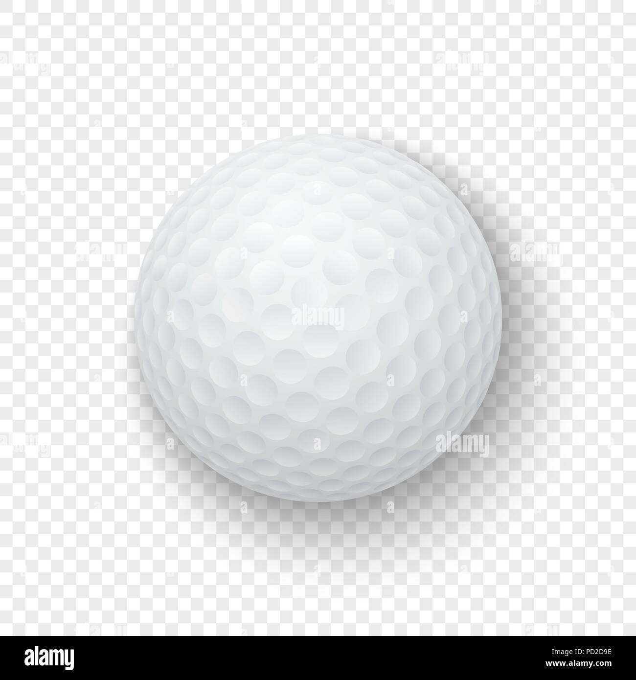 Vector Realistic 3d White Classic Golf Ball Icon Closeup Isolated On Transparency Grid Background Design Template For Graphics Mockup Top View Stock Vector Image Art Alamy