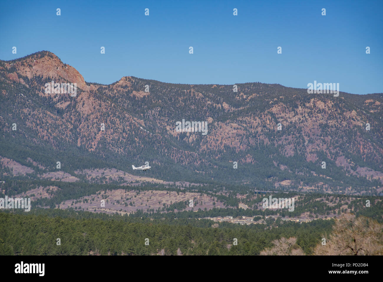 The beautiful landscape from the Ackerman Overlook, Colorado Springs, Colorado - Stock Image