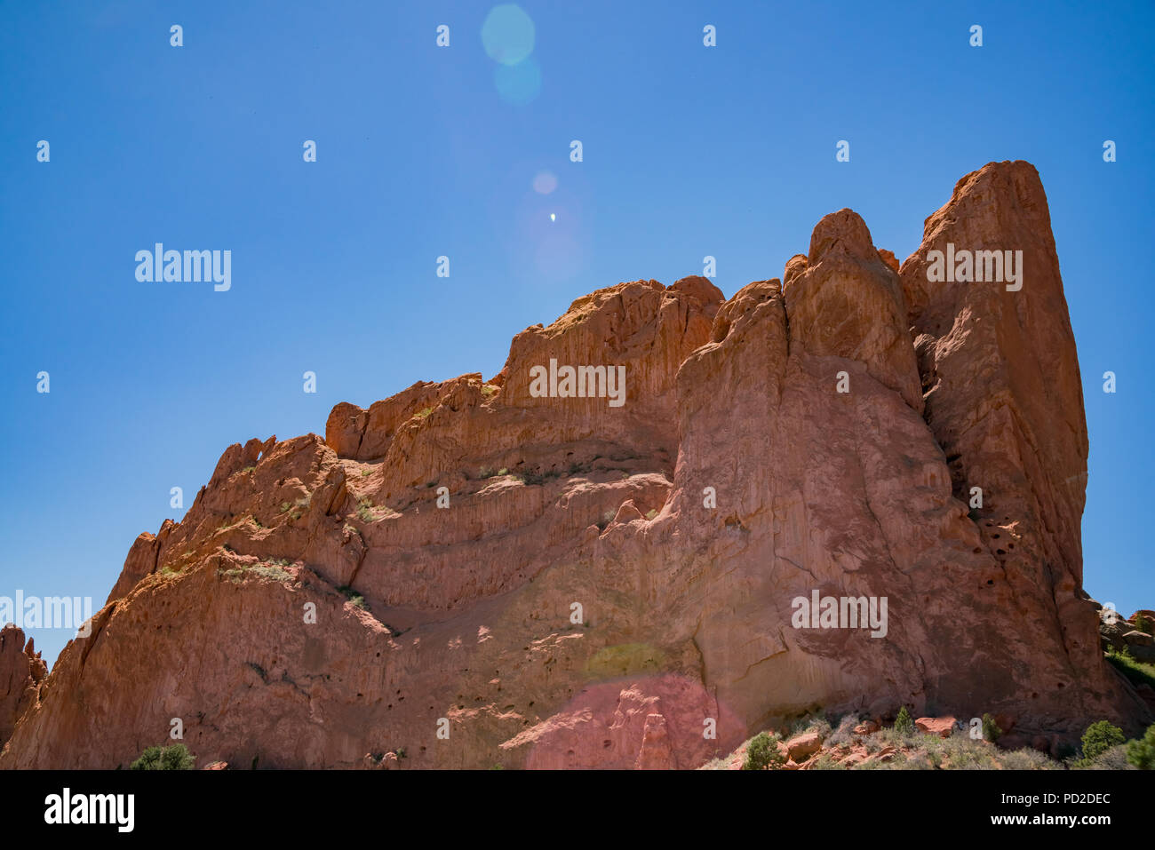Beautiful landscape of the famous Garden of the Gods at Manitou Springs, Colorado - Stock Image
