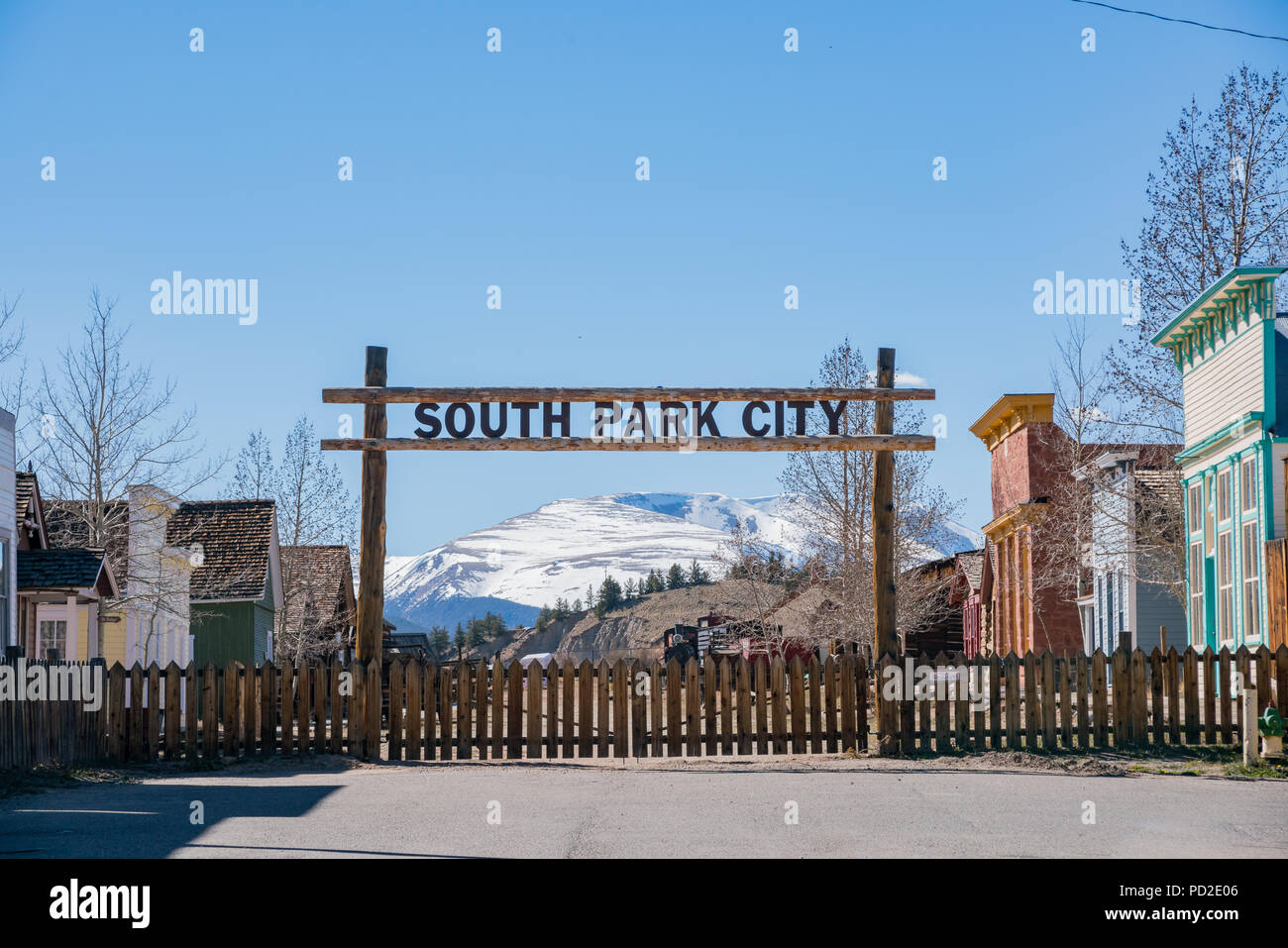 The historical South Park City at Fairplay, Colorado - Stock Image