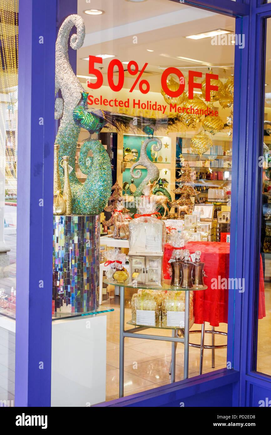 Boca Raton Florida Mizner Park Upscale Shopping Home Decor Retail Business Merchandise Holiday Decorations Christmas Discount Sa