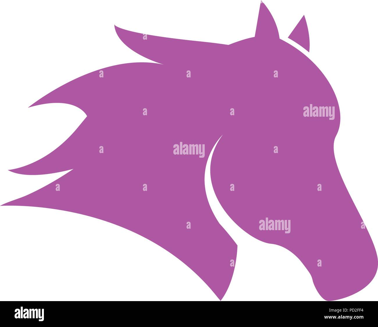 Illustration Of Horse Head Logo Icon Template Vector Stock Vector