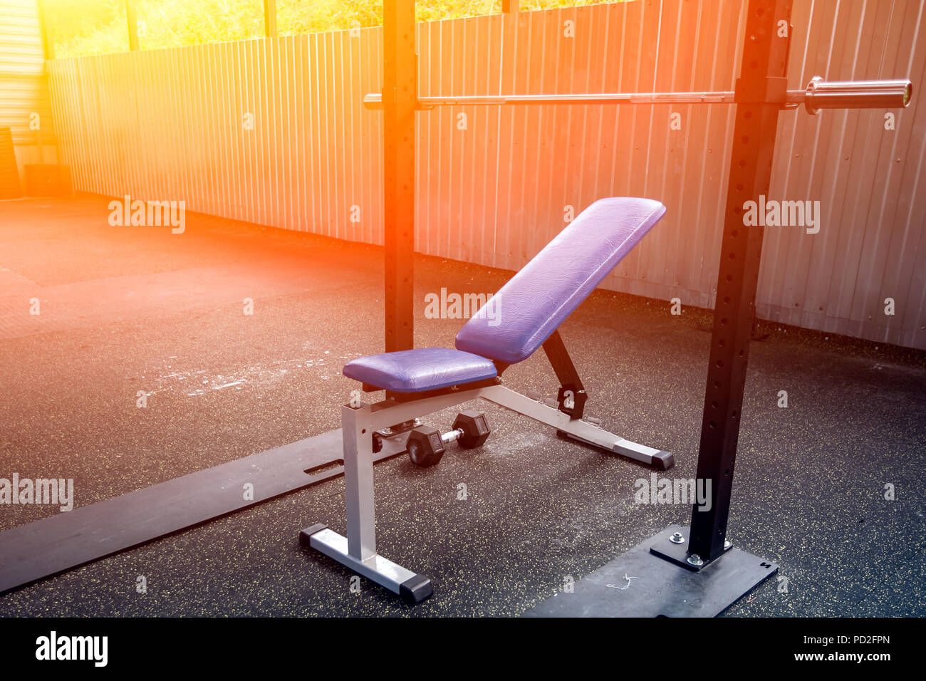 Pleasant A Close Up Of A Metal Simulator In The Form Of A Bench With Gmtry Best Dining Table And Chair Ideas Images Gmtryco