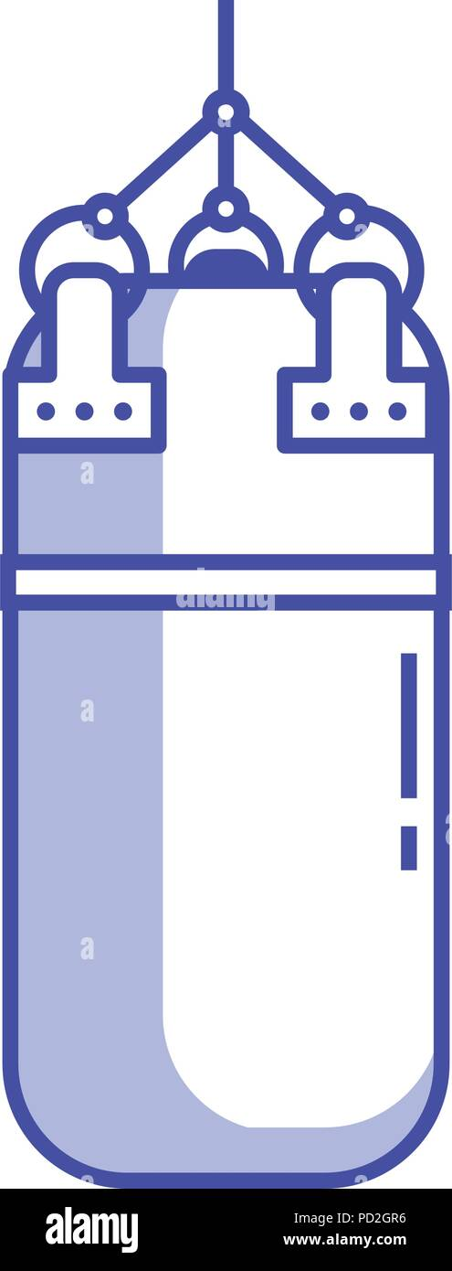 Punching bag icon. Punchbag isolated on white background. Line art design. - Stock Vector