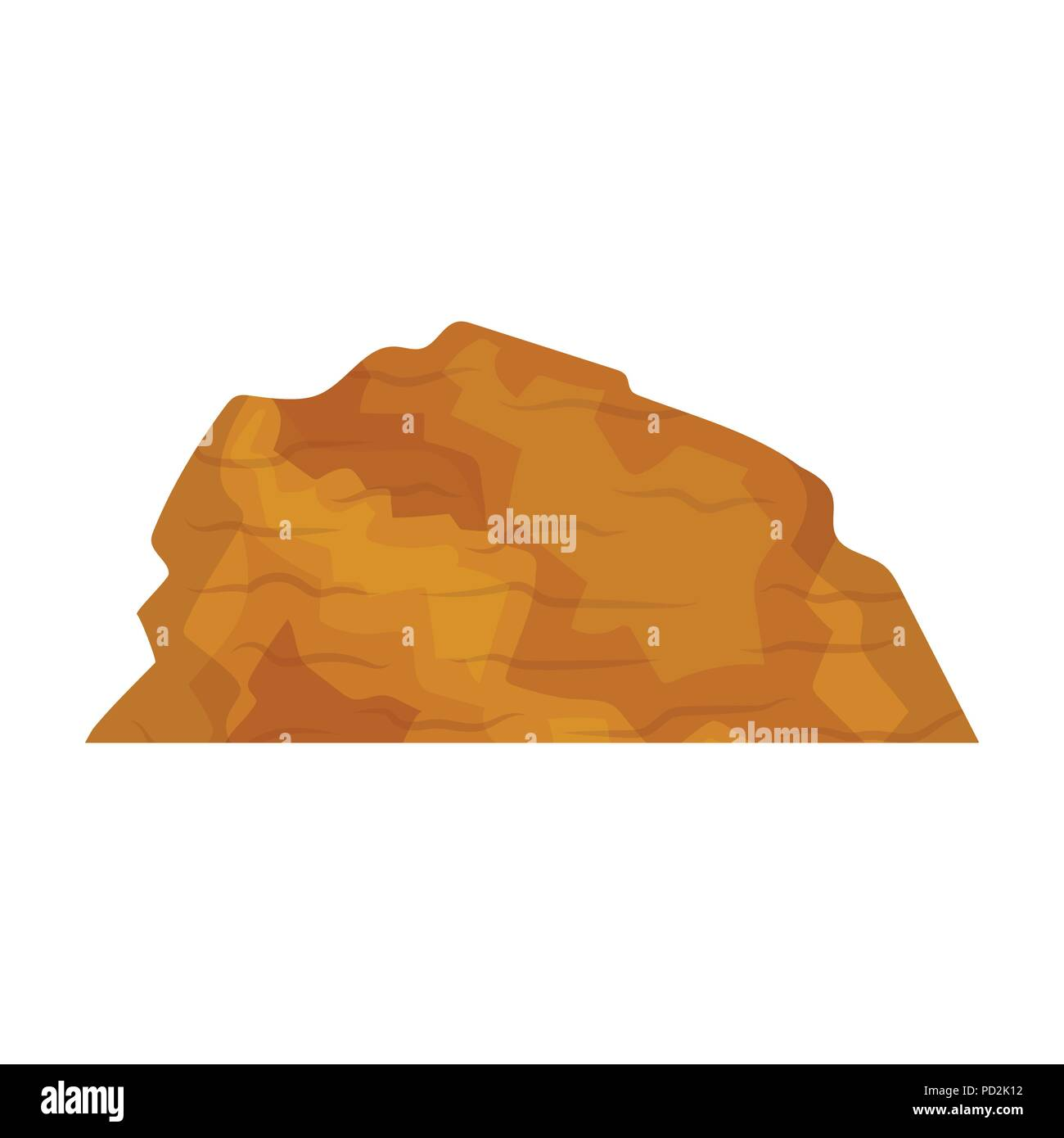 Sandy ceremony in wild west .Mountains of sand.Mountains in the desert.Different mountains single icon in cartoon style vector symbol stock web illust - Stock Image
