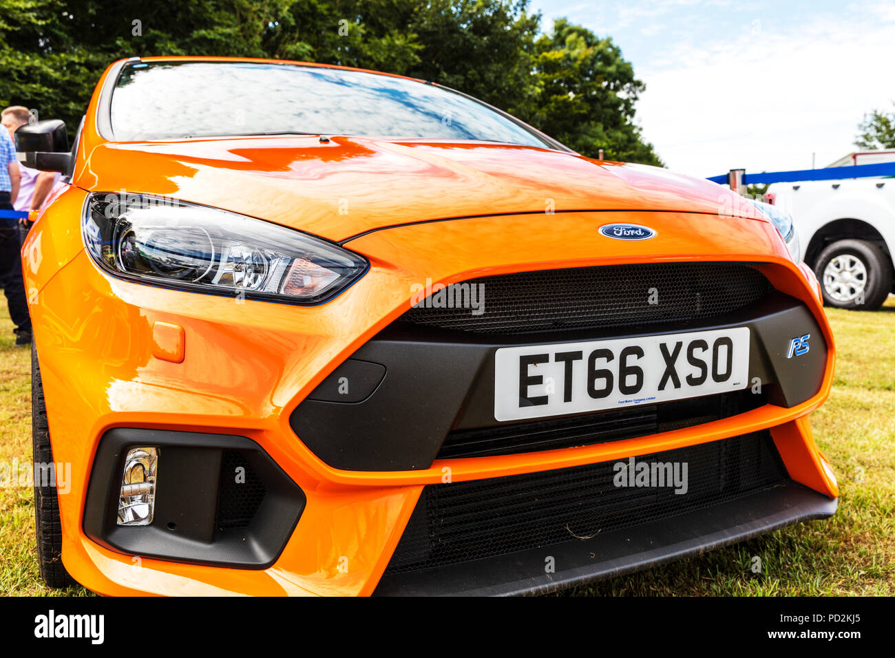 Ford Focus RS sports car, focus rs, ford car, ford sports car, ford sports cars, Ford RS, front end, Ford, Sports car, sports cars, UK, fast cars, car - Stock Image