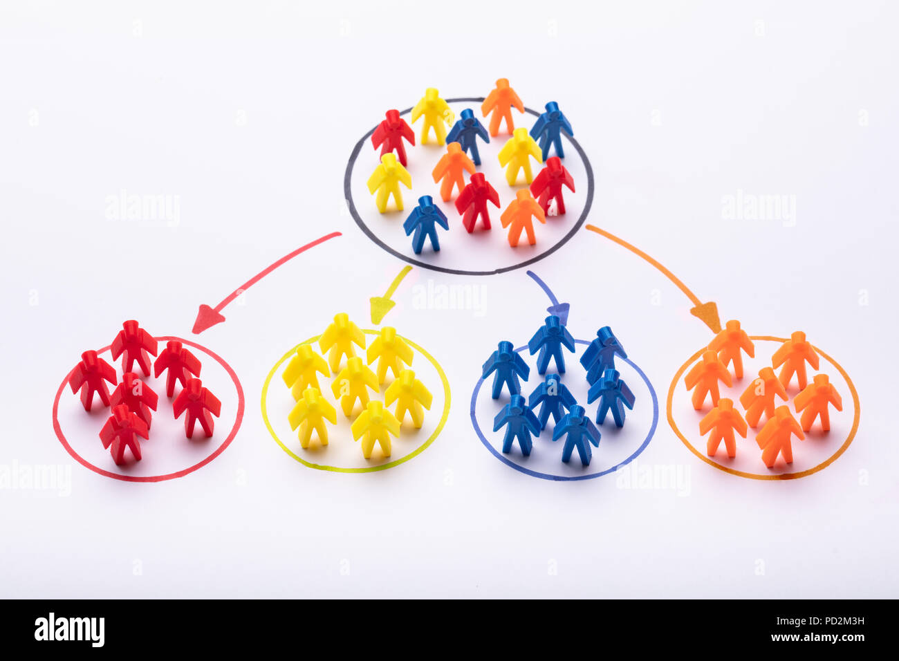 Choosing The Right Person From Colorful Team Stock Photo