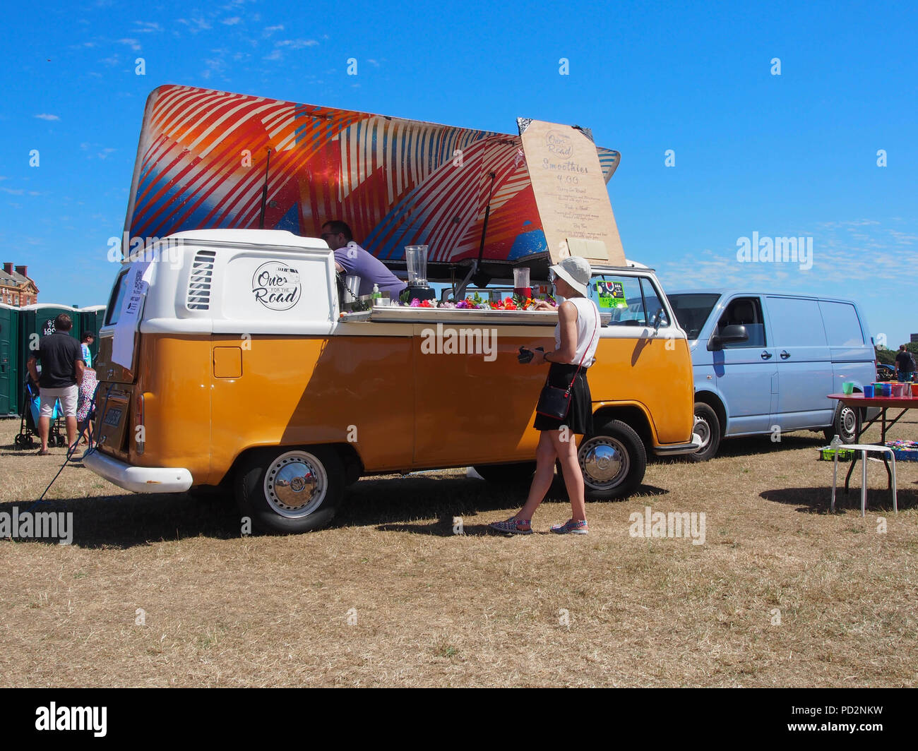 54bd016f96a0 A classic VW campervan converted into a mobile coffee shop and juice ...