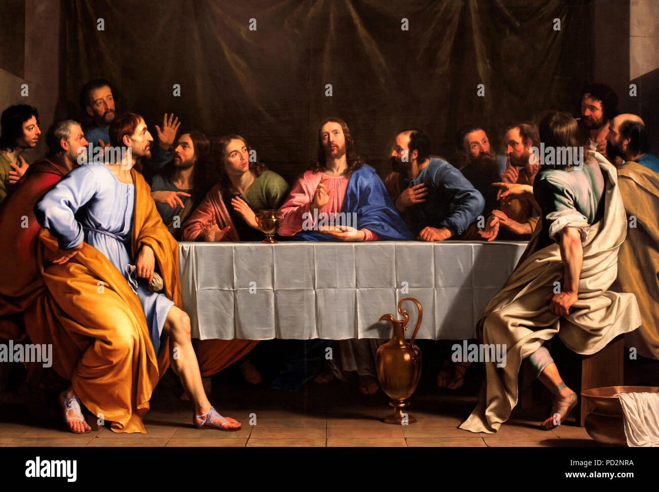 The Last Supper - Philippe de Champaigne - Stock Image