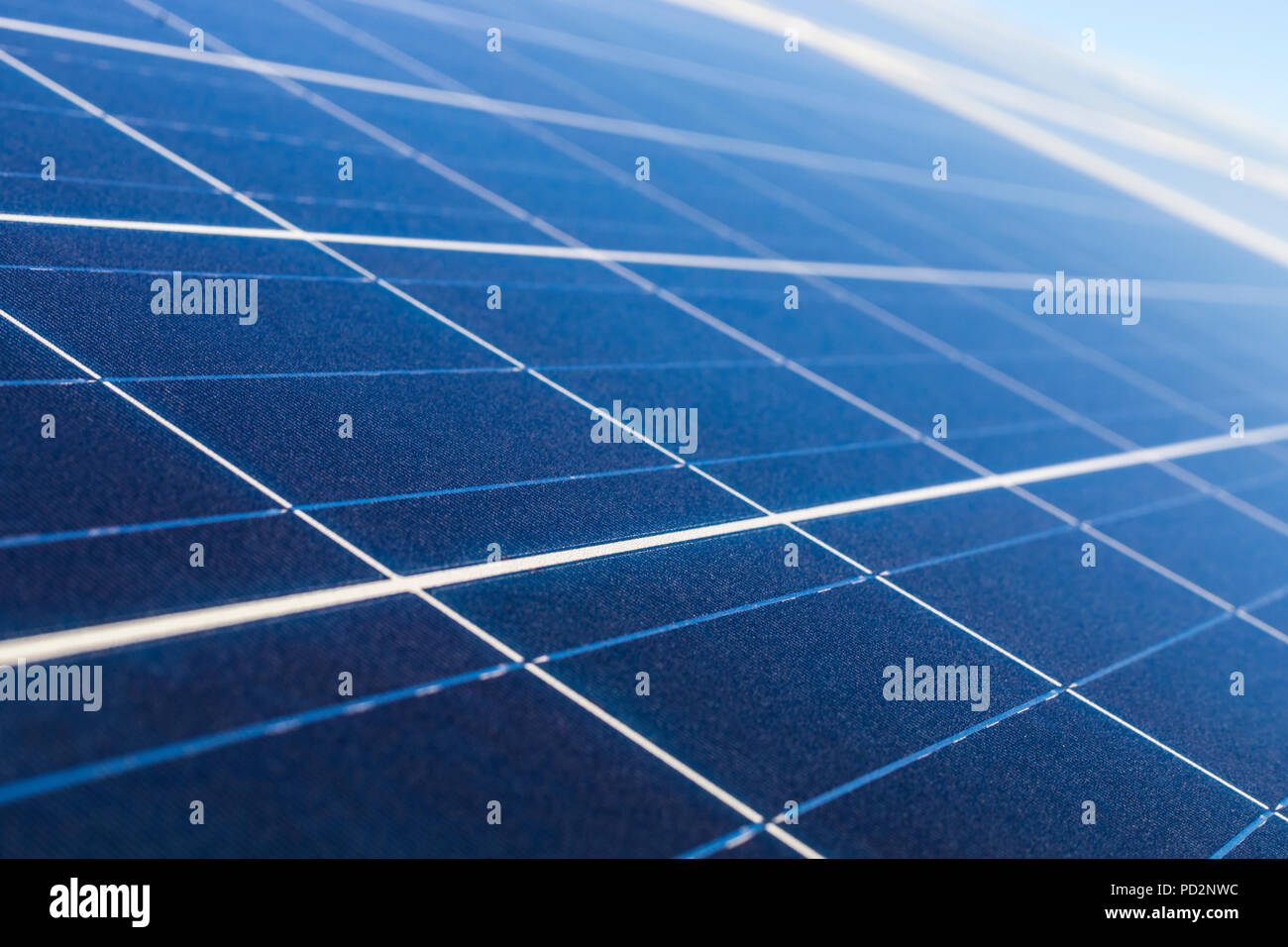 Solar Energy, a clean technology to reduce CO2 emissions, the best place for Solar Energy is Atacama Desert at Chile. Solar modules and cells. - Stock Image