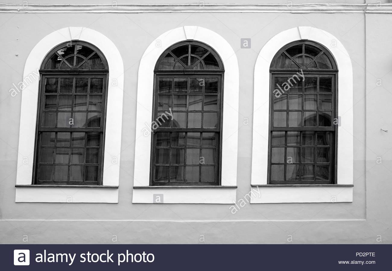 Wood Framed Windows Black and White Stock Photos & Images - Alamy