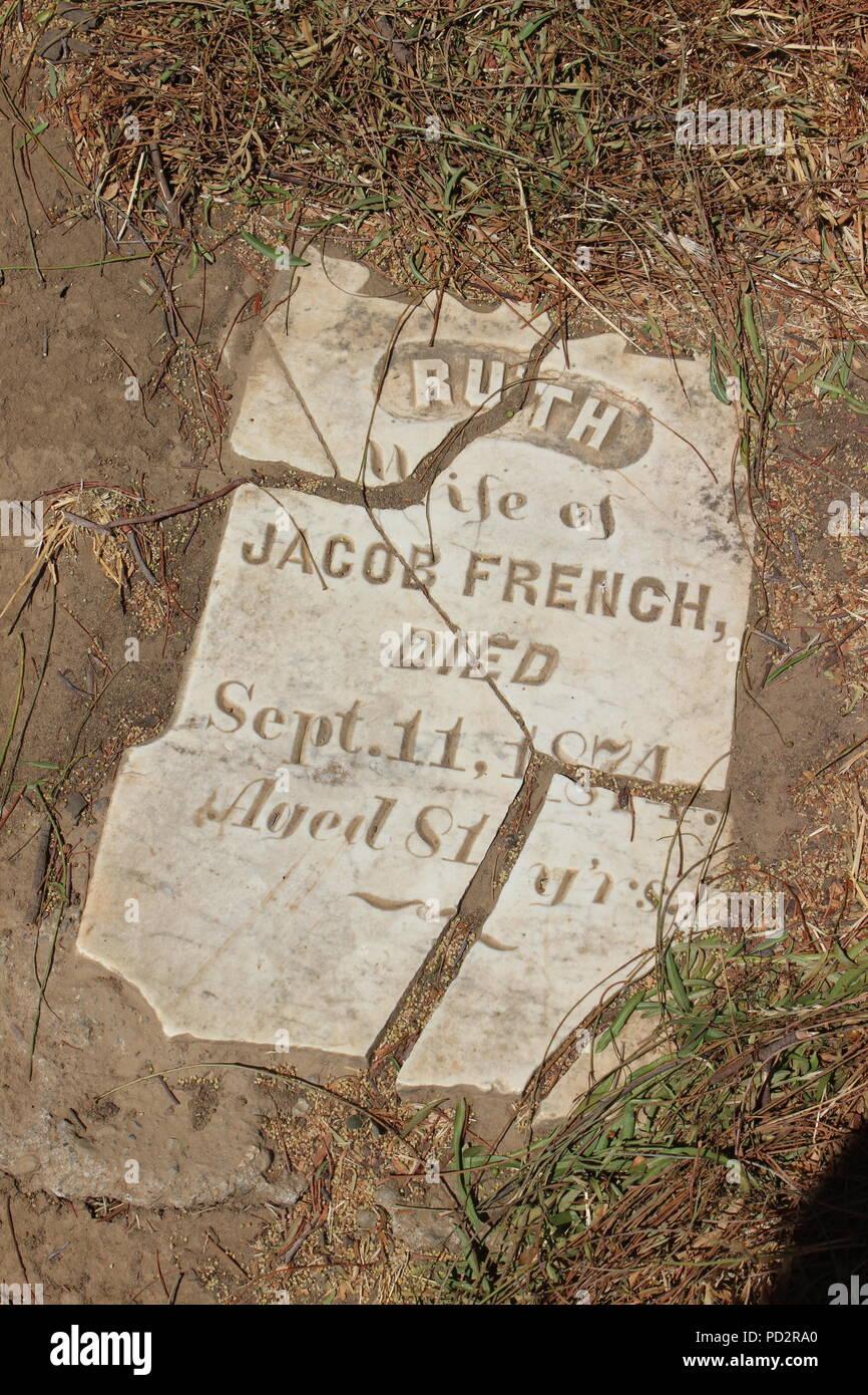 Rose Hill Cemetery, Black Diamond Mines Regional Preserve, Antioch, California Stock Photo