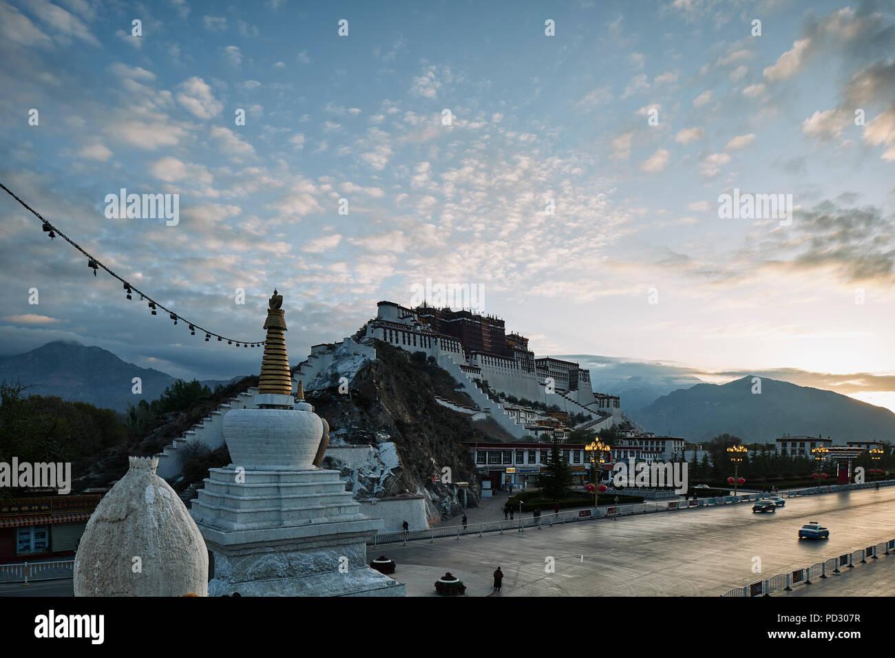 Potala Palace, Lhasa, Xizang, China - Stock Image
