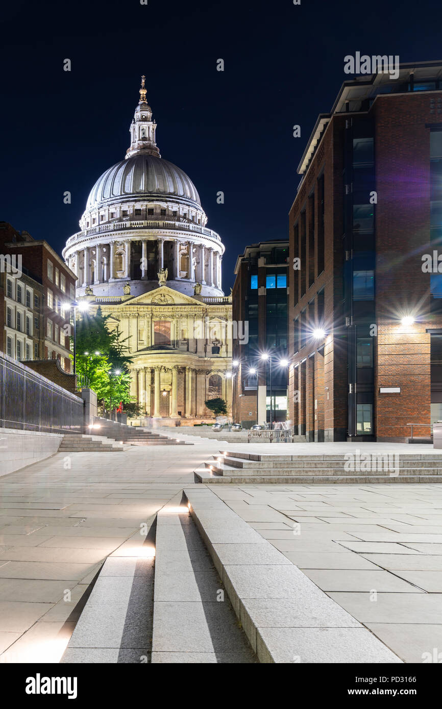 St paul cathedral with beautiful sunset twilight in London UK. - Stock Image