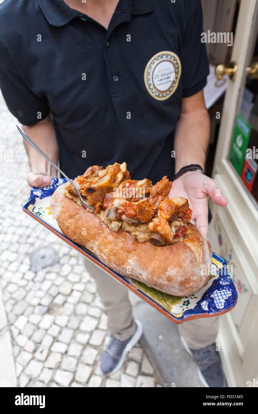 Ze Varunca restaurant, Lisbon, Portugal Stock Photo