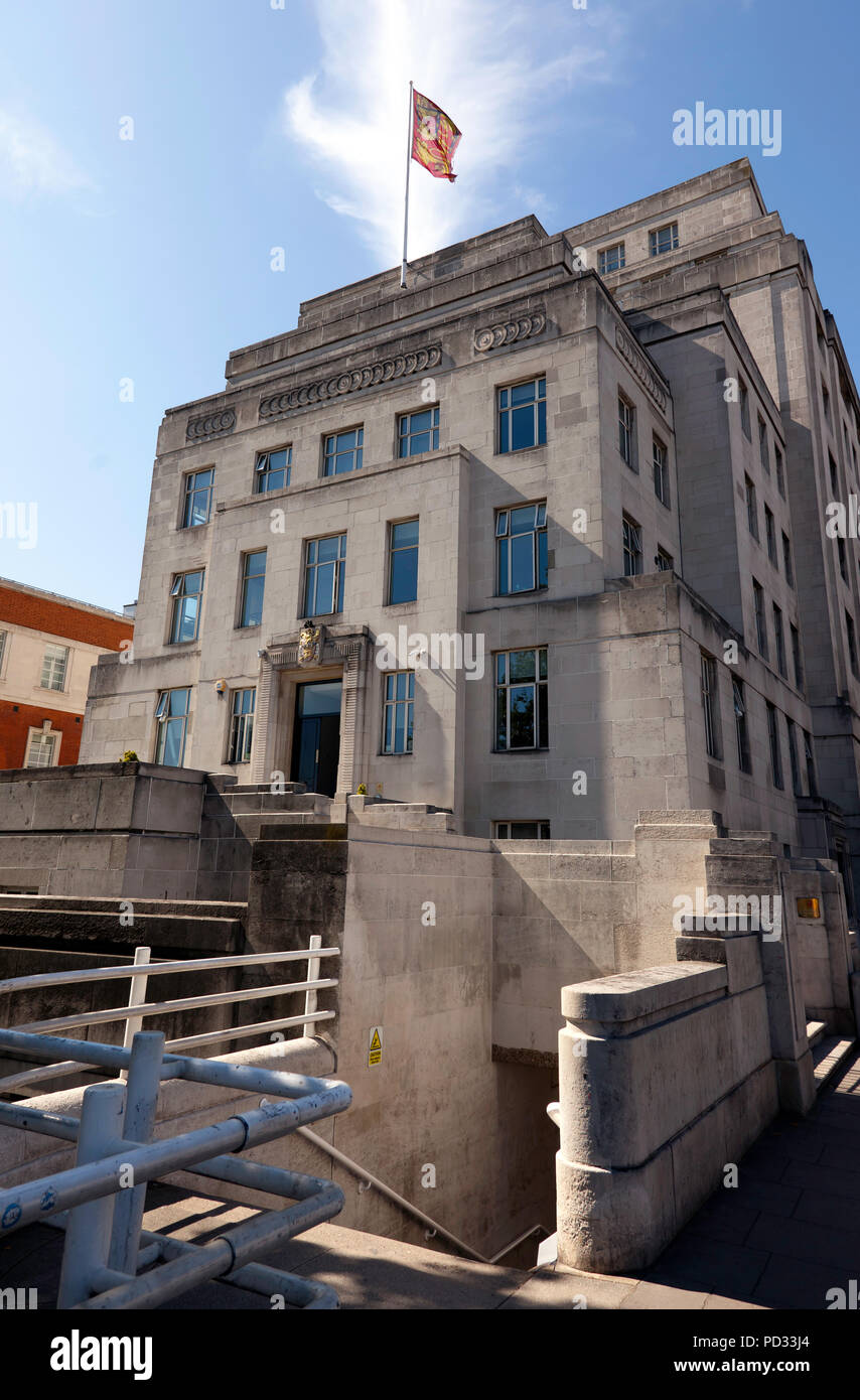 View of the South end of Brettenham House, 1 Lancaster Place, - Stock Image