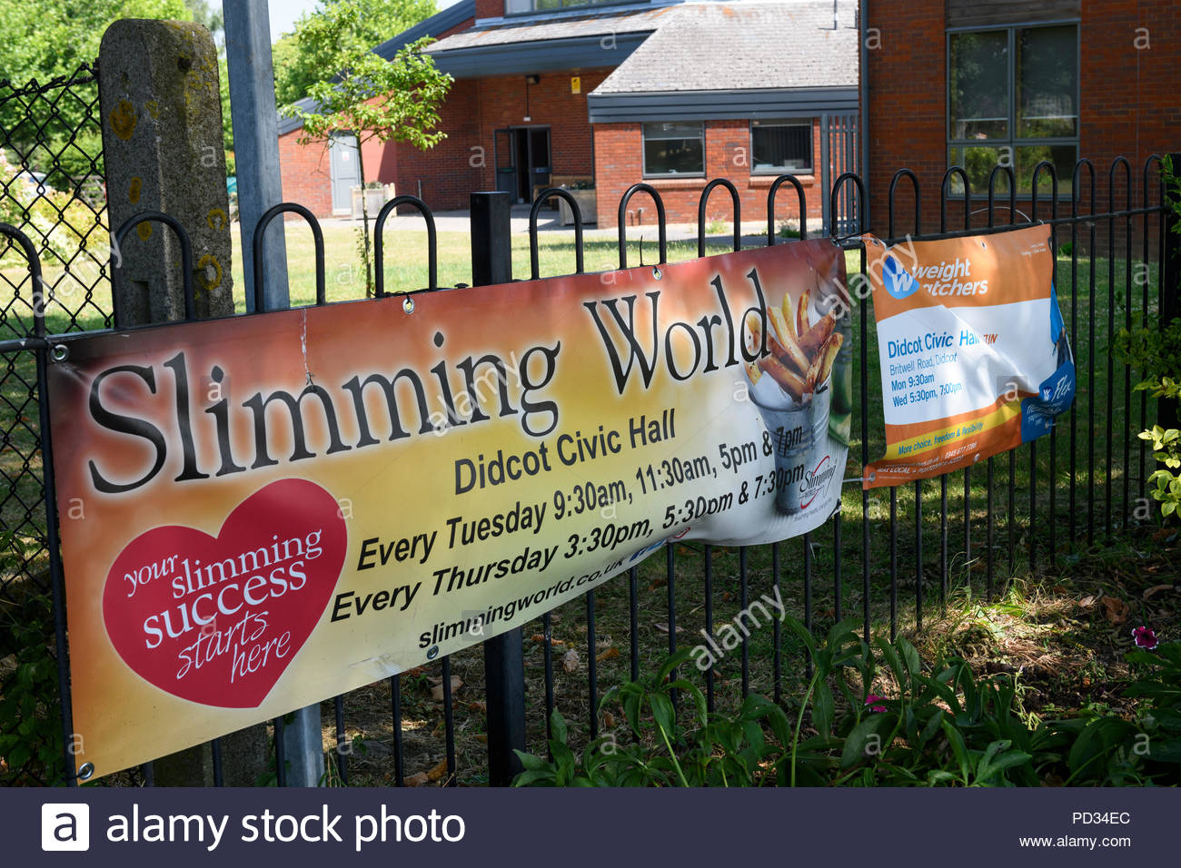 Slimming World venue poster, Didcot, Berkshire, England, UK - Stock Image