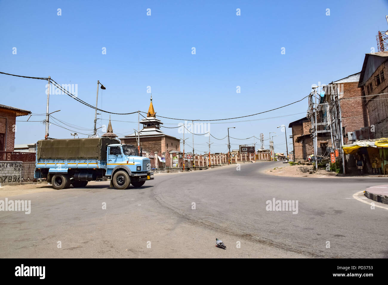 Srinagar, Jammu & Kashmir, - August 6, 2018 - Curfew and shutdown