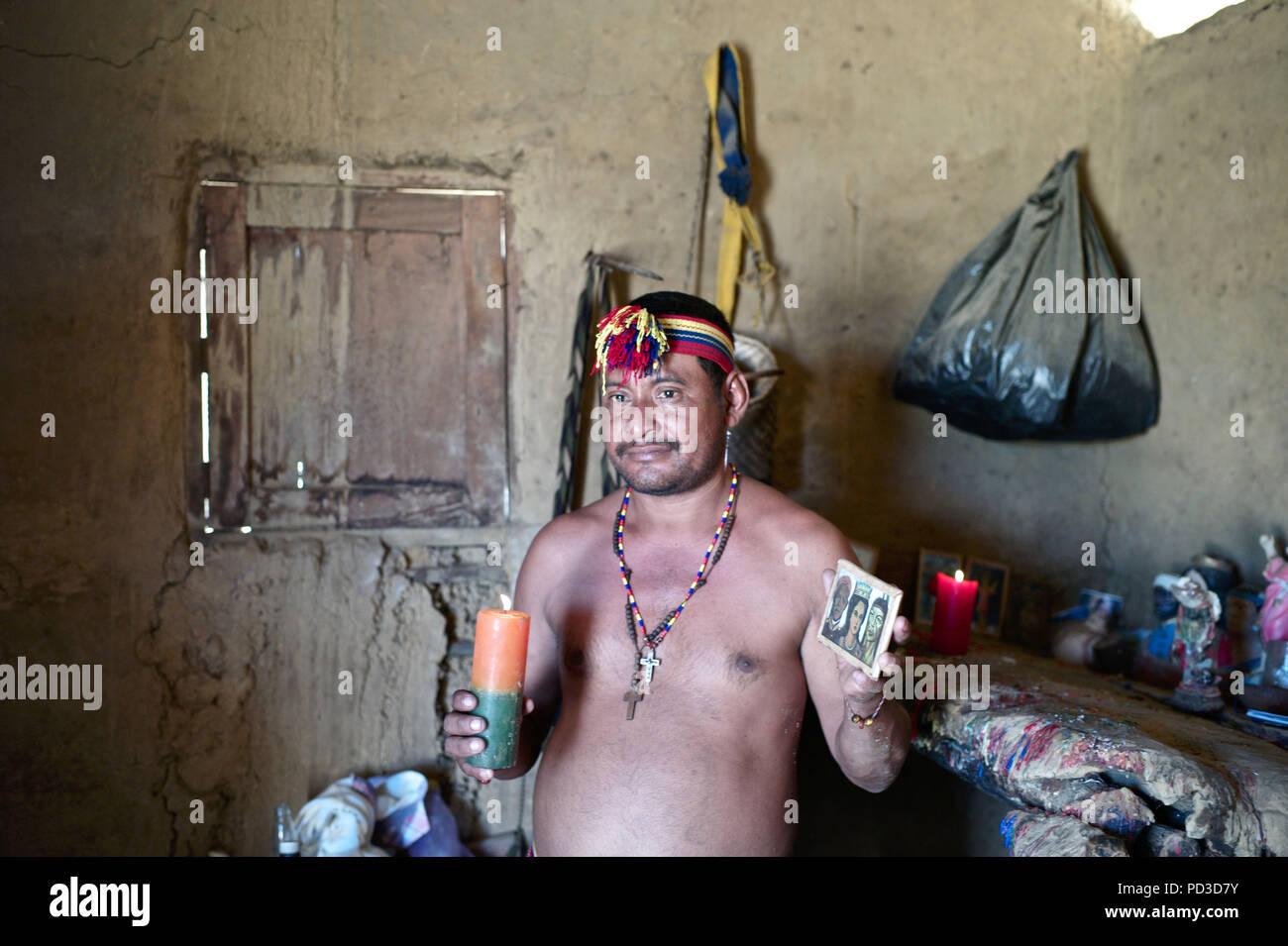 Rioacha La Guajira Colombia 18th Feb 2018 A Wayuu Piachi Or