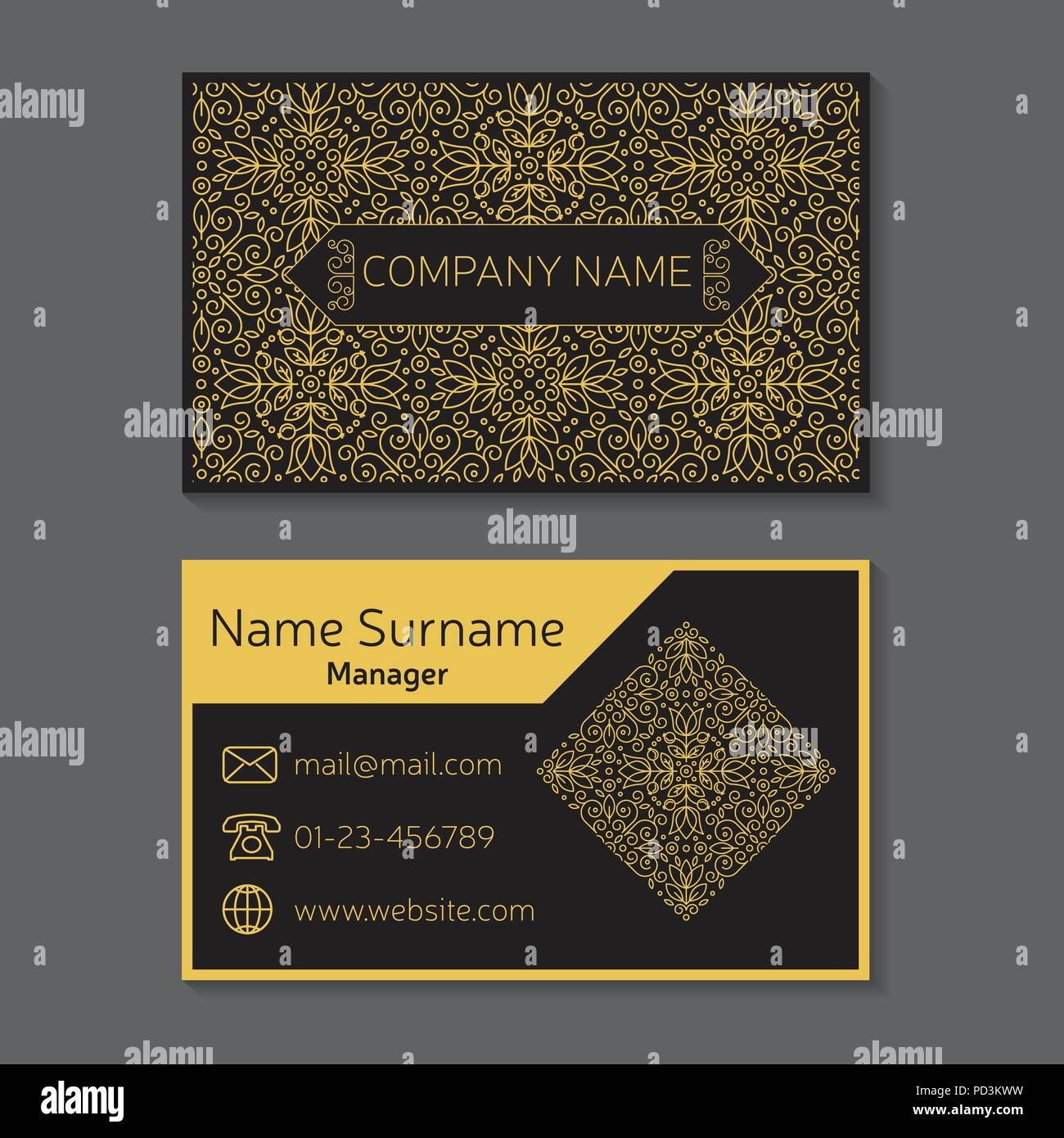 Visit card vector vectors stock photos visit card vector vectors business card vector editable template include front and back side geometric seamless pattern and reheart Choice Image