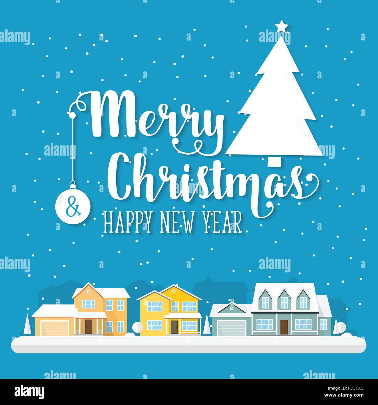 Merry christmas and happy new year greeting card vector merry christmas and happy new year greeting card vector illustration xmas design for invitations banners and flyers m4hsunfo