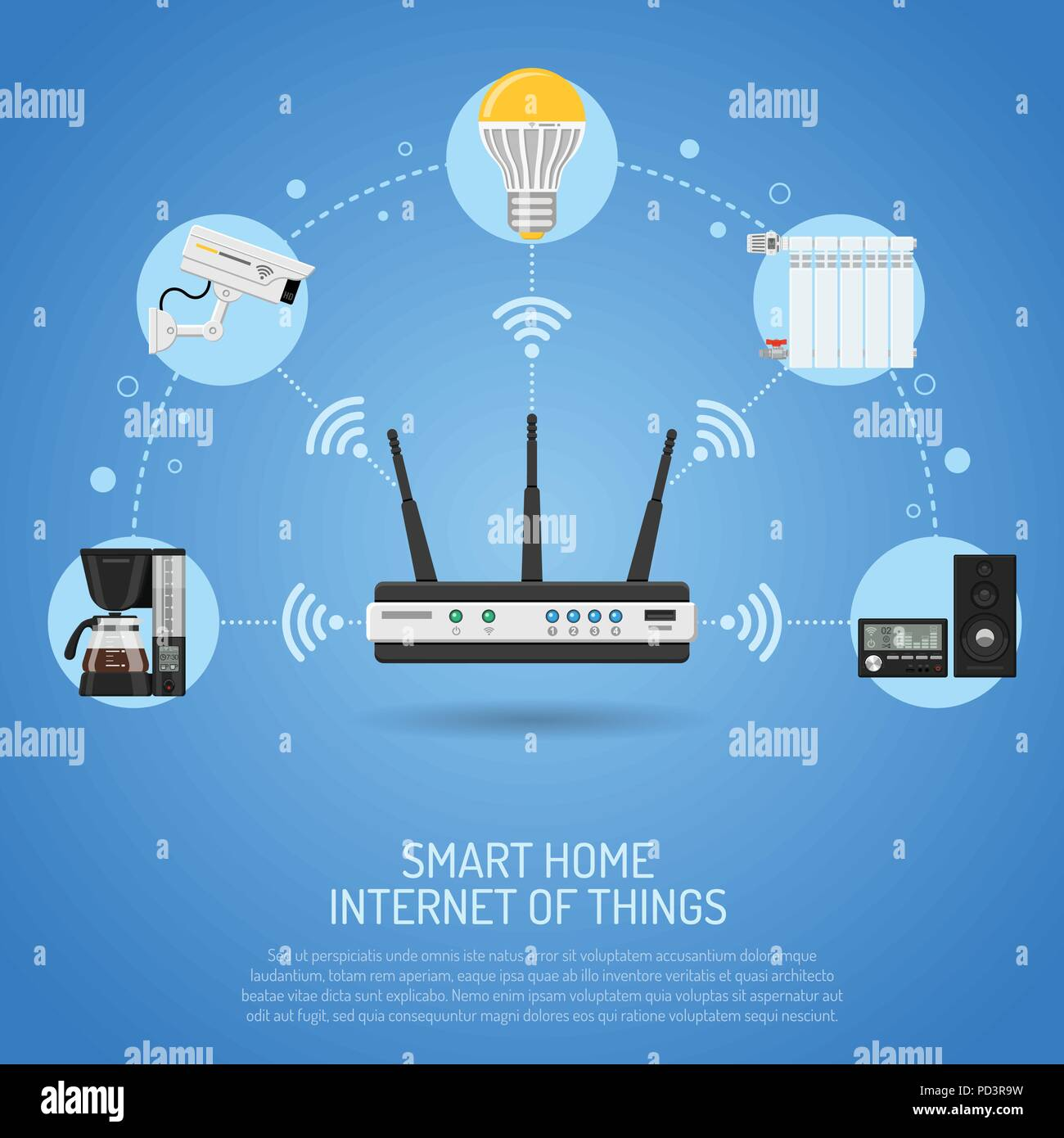 Smart Home and Internet of Things - Stock Image