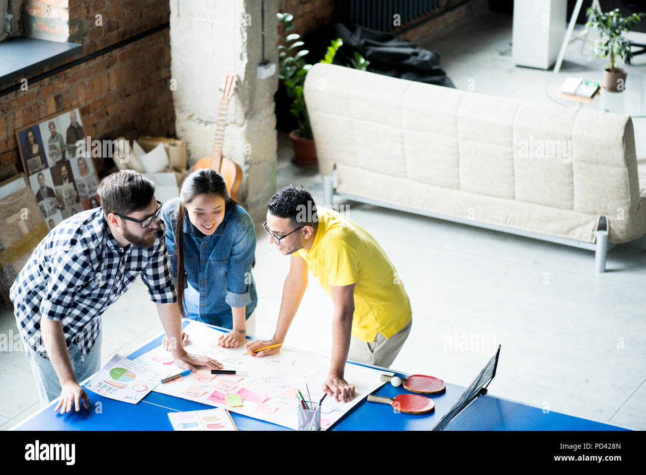 Business Team Brainstorming - Stock Image