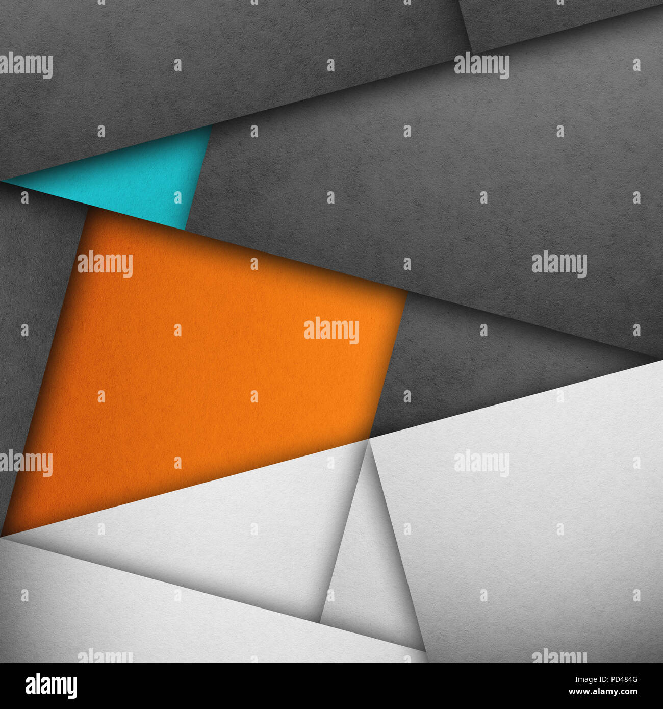 Material Design Wallpaper Real Paper Texture Gray Shades Orange And Blue Stock Photo Alamy