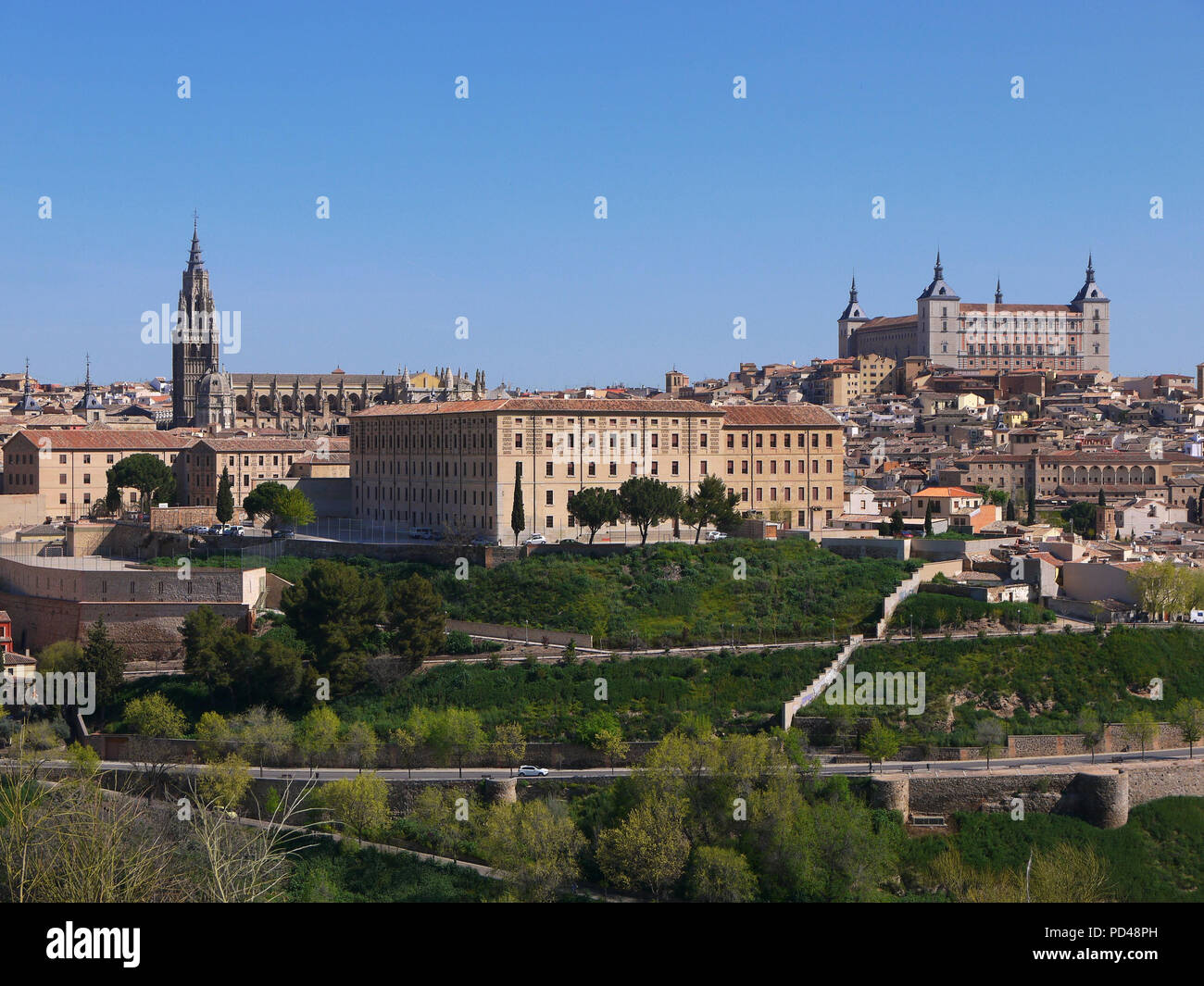 Panoramic view of the historic medieval city of Toledo Spain Stock Photo