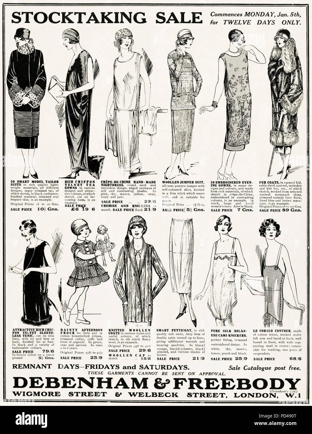 1920s old vintage original advert advertising ladies fashion