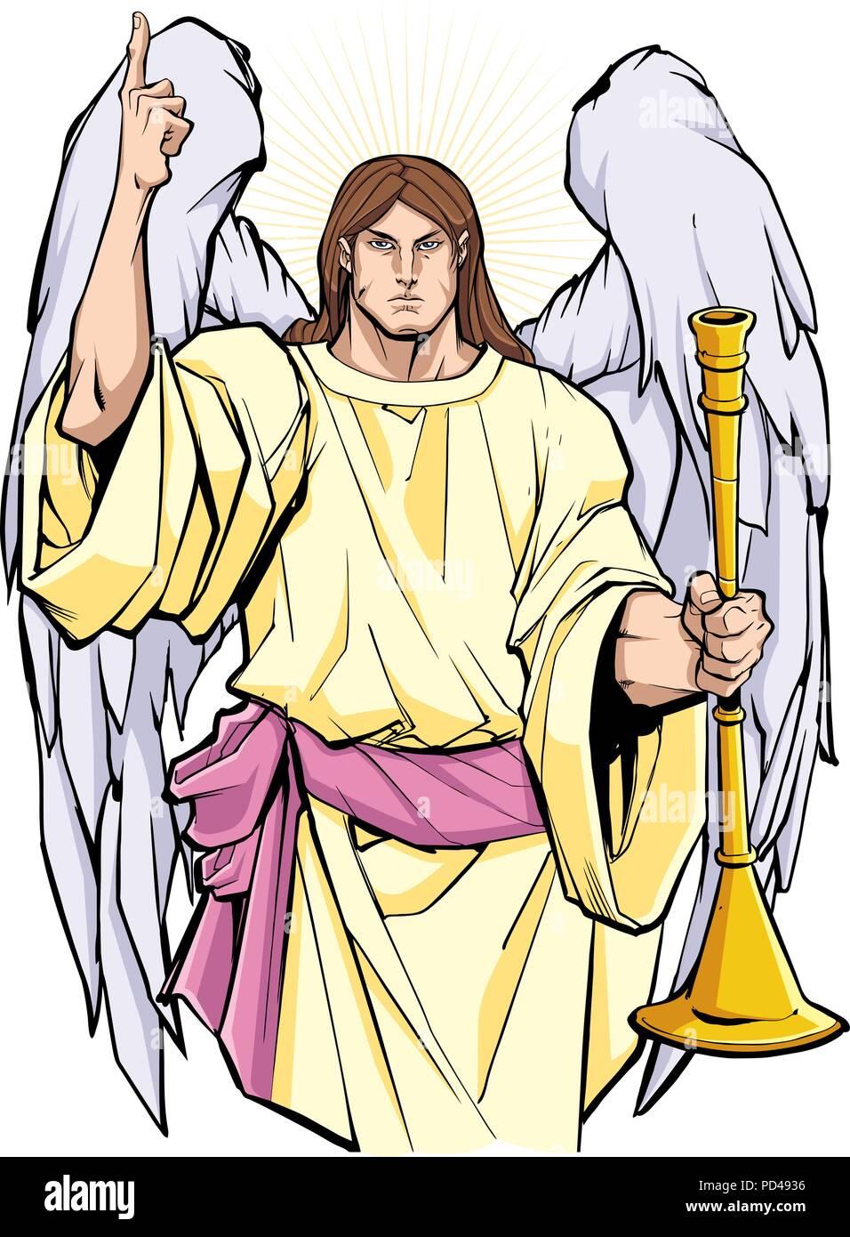 Archangel Gabriel Portrait - Stock Image