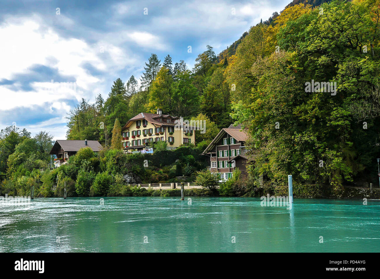 Interlaken Ost, Switzerland - Stock Image