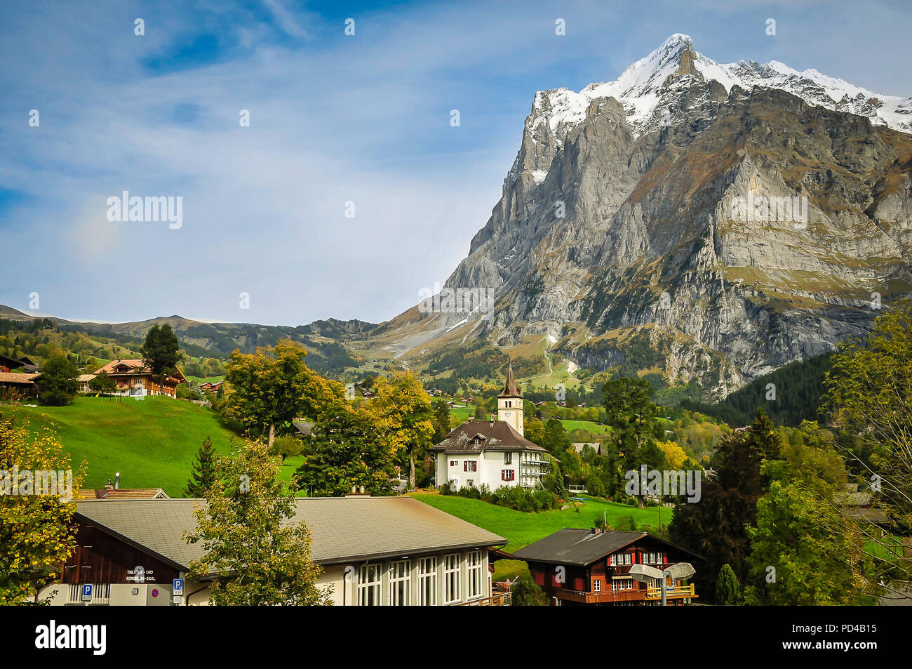 The Eiger as seen from Grindelwald - Stock Image
