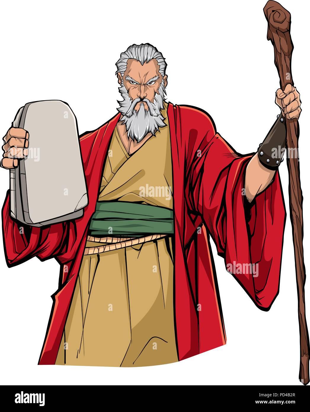 Moses Portrait Illustration - Stock Vector