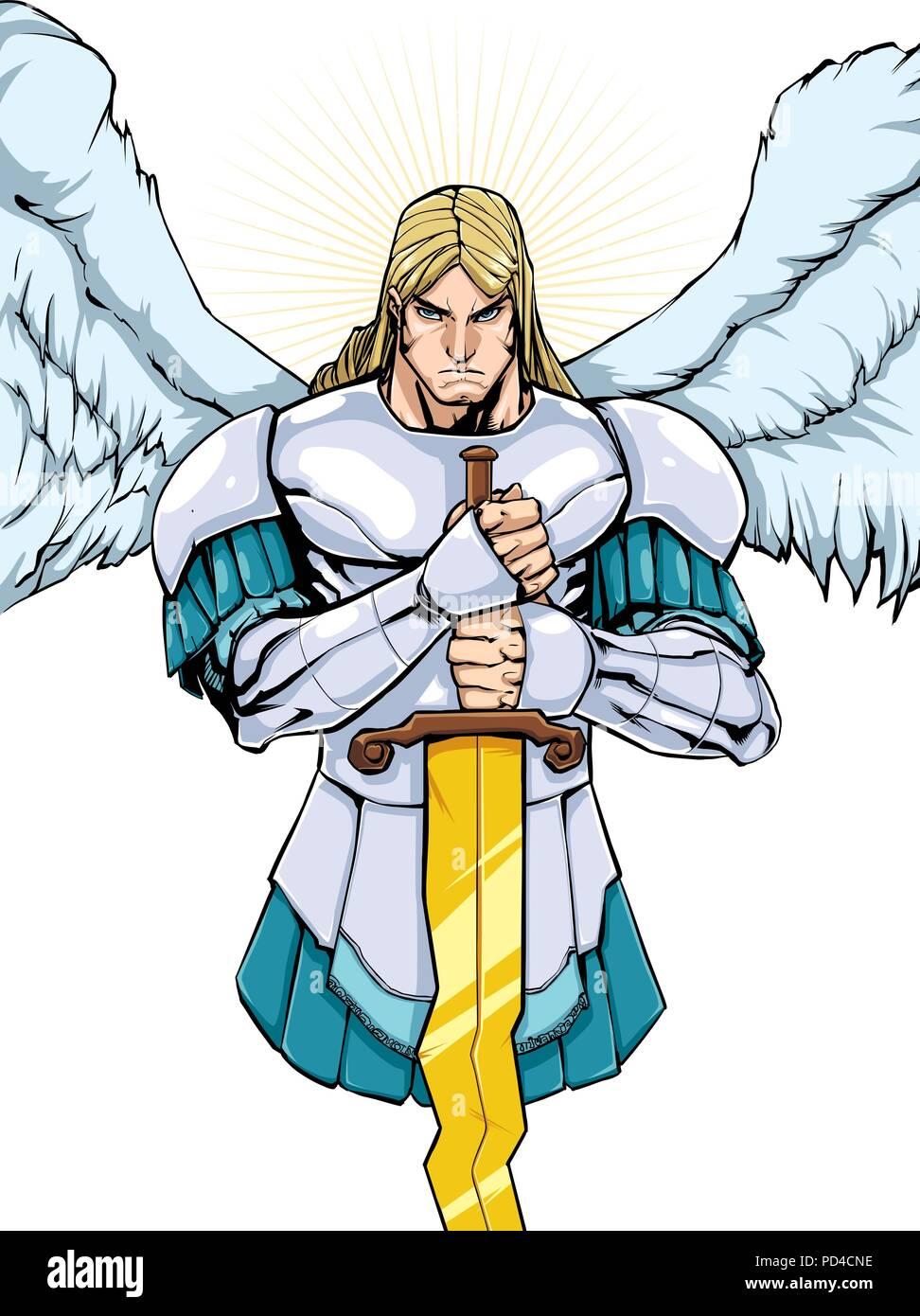 Archangel Michael Portrait 2 - Stock Vector