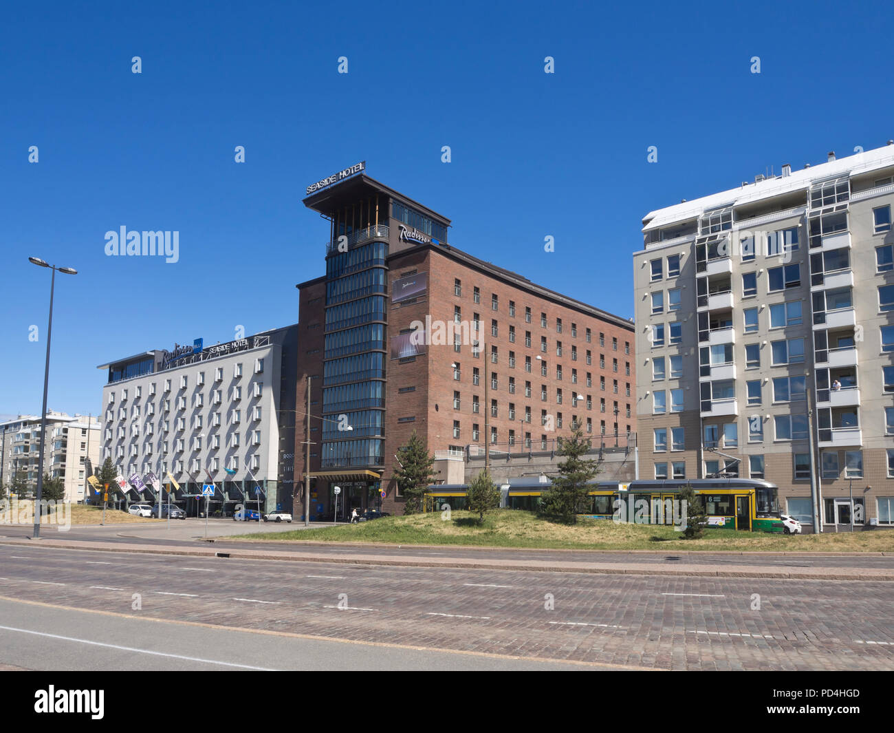 Radisson Blu Seaside Hotel four star accommodation in the Hlietalahti district in Helsinki Finland - Stock Image