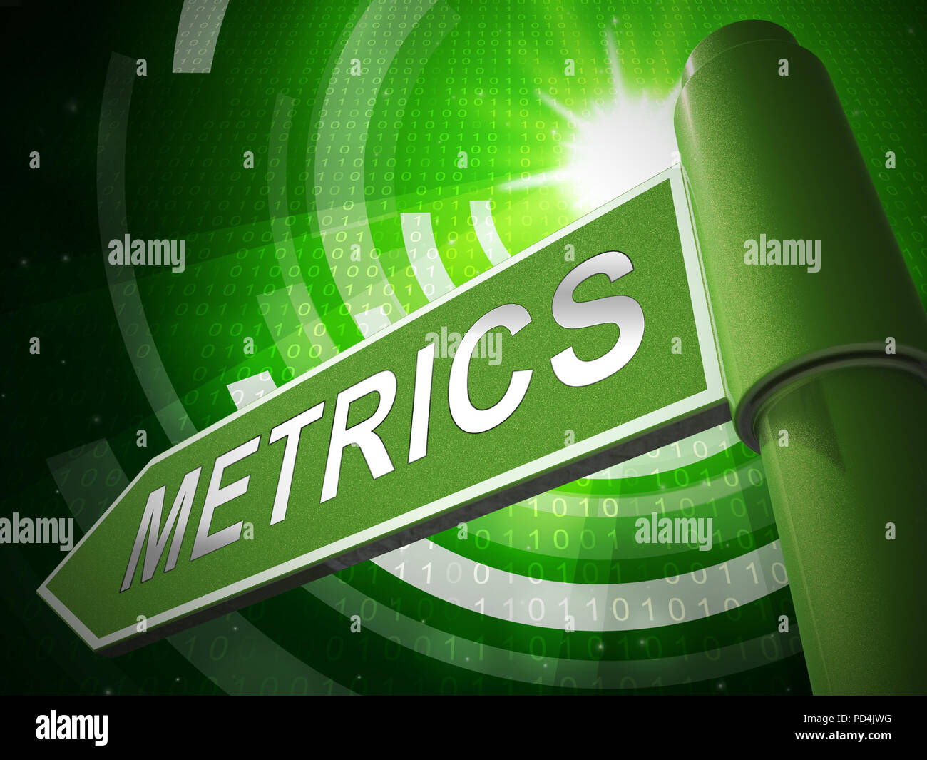 Website Metrics Business Site Analytics 3d Illustration Shows Analytic Forecasts Or Trends For Data Evaluation - Stock Image