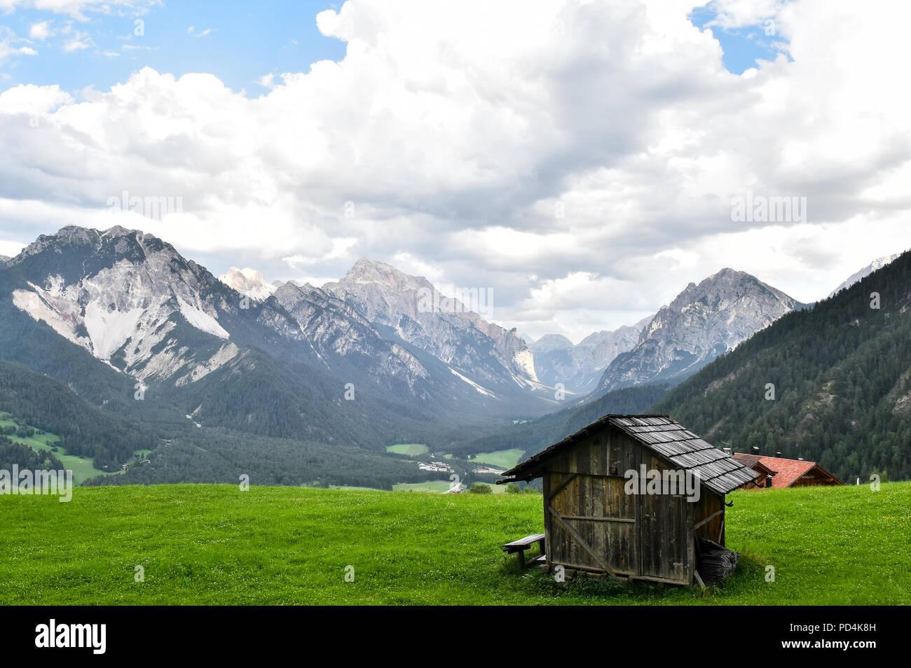 Beautiful view of idyllic alpine mountain scenery with