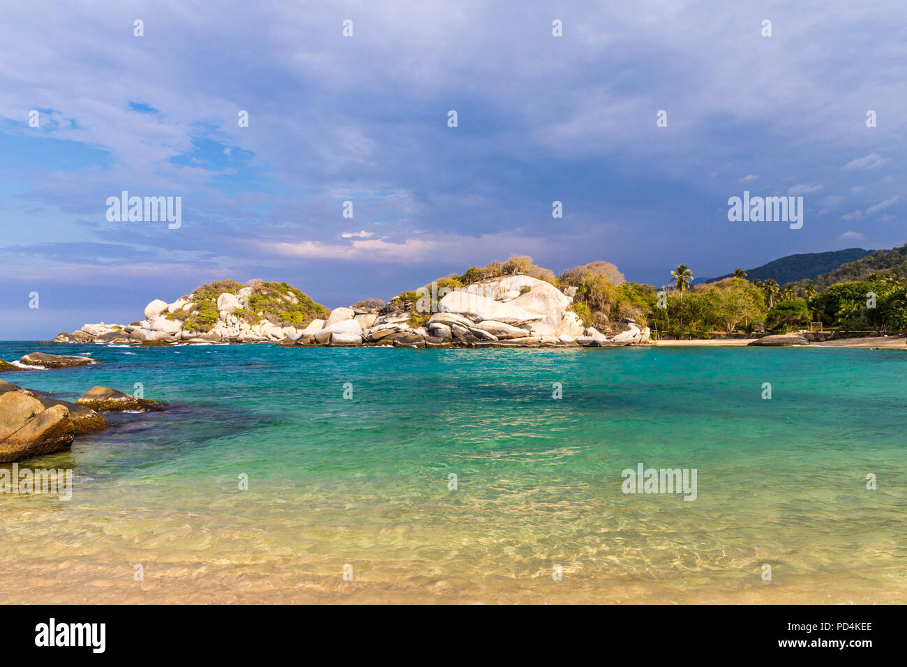A view in Tayrona National Park in Colombia - Stock Image
