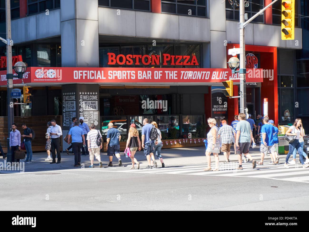 Toronto Canada July 15 2018 Boston Pizza In Toronto
