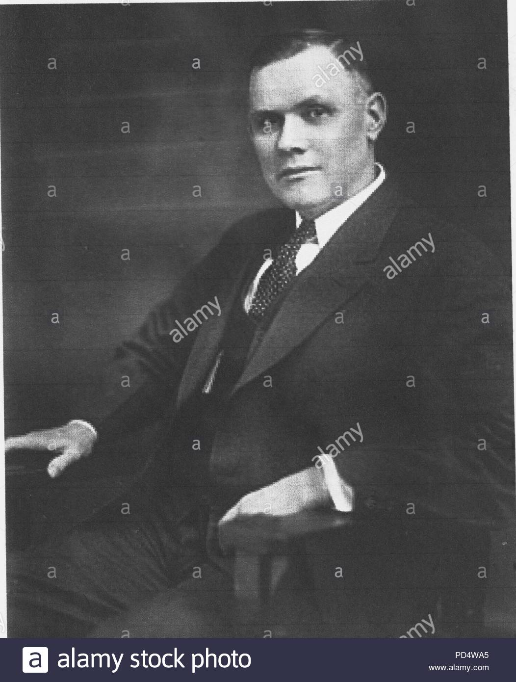 William B. Green (March 3, 1873 – November 21, 1952) was an American trade union leader. He is best remembered as the president of the American Federation of Labor (AFL) from 1924 to 1952. He was a strong supporter for labor-management co-operation and was on the front line for wage and benefit protections and industrial unionism legislation. As president of the AFL, he continued the development of the federation away from the foundations of 'pure and simple unionism' to a more politically active 'social reform unionism.' - Stock Image