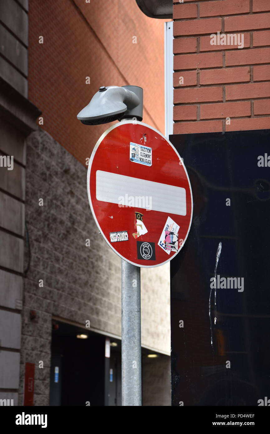 No entry sign Manchester England - Stock Image