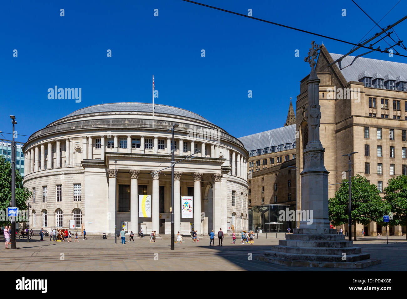 Central Library in St Peters Square, Manchester. Stock Photo