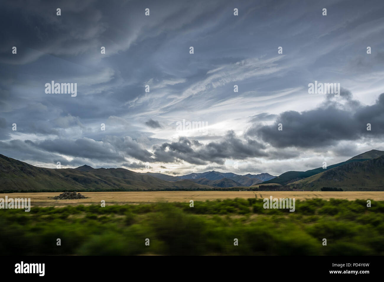 Clouds over Garston - Stock Image